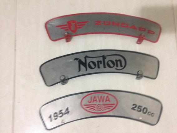 Plaqueta Motos Antigas Norton Royal Bsa Zúndapp Indian