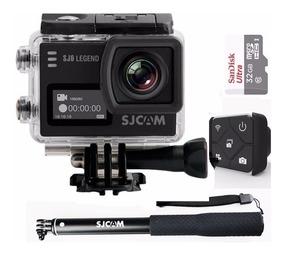 Câmera Sj6 4k+ 32gb+ Controle Remoto+ Bastão Original Sjcam