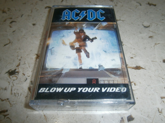 Ac/dc - Blow Up Your Video Fita K7 Importada Europa 1988