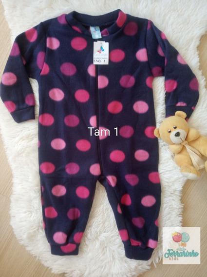 Macaquinho Pijama Soft Infantil C Zíper 4 Anos Várias Estamp
