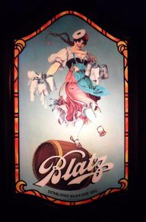 Antiguo Letrero Luminoso Vintage Cerveza Dancing Girl