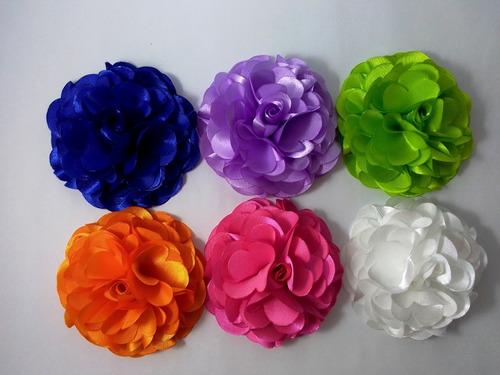 Flores De Tela Para Apliques Estilo Rosa De 8 Cm