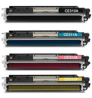Toner Para Hp Cp1025nw Color Negro 1025 Juego X 4 Cartuchos Alternativos