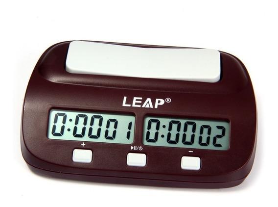 Relógio Leap Pq9907s Digital De Xadrez Promoção Frete Grátis