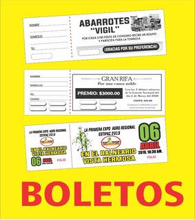 1000 Boletos Para Rifa, Eventos, Estacionamientos Etc..