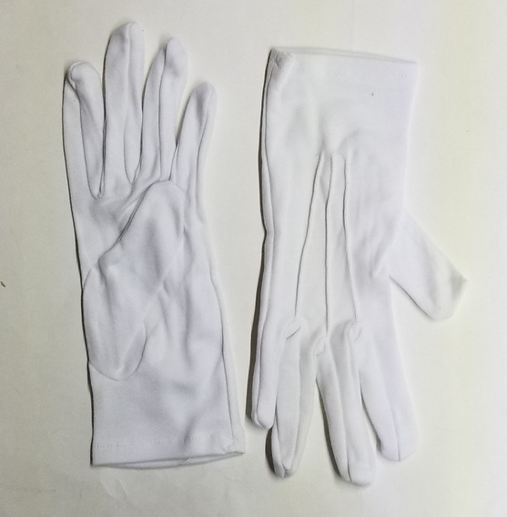 10 Pares, Guantes Blancos Para Escolta, Talla 11 (par)