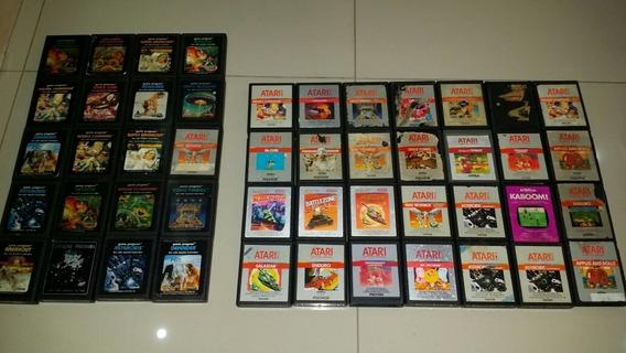 Atari Lote De 3 Cartuchos A Escolha, Enduro, Missile Commando, Asteroids, Decathlon, Verifique Disponibilidade Dos Jogos