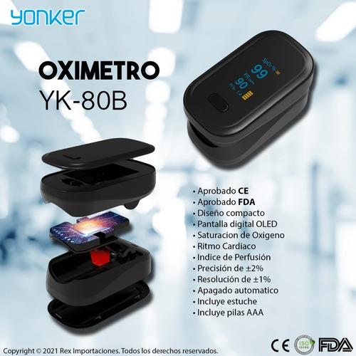 Imagen 1 de 6 de Oximetro Profesional Yonker Ce & Fda, Estuche Y Pilas
