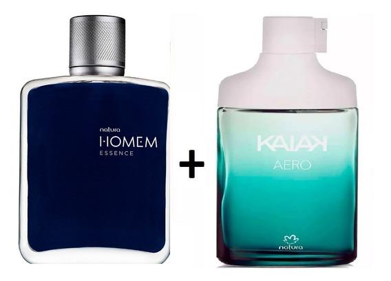 Kit Perfumes Natura Masculinos Homem Essence + Kaiak Aero