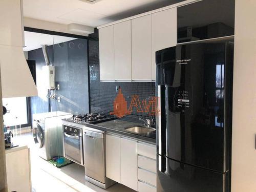 Apartamento Com 2 Dormitórios À Venda, 70 M² Por R$ 690.000,00 - Anália Franco - São Paulo/sp - Ap3454
