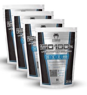 Whey Protein Isolado 4 Pacotes (8 Kilos) Iso 100% Proten Wey