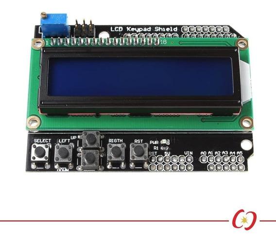 Lcd Keypad Shield Display Lcd 16x2 Backlight Azul