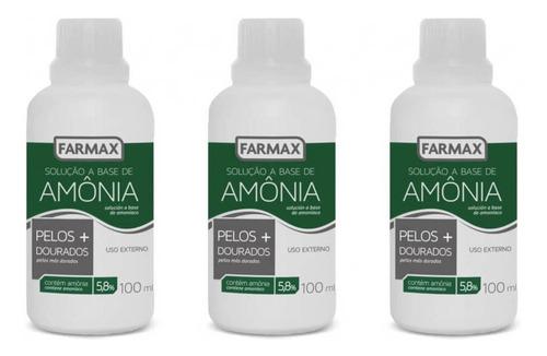Farmax Amônia Pelos + Dourados Líquida 100ml (kit C/03)