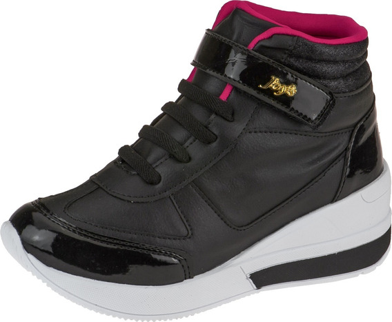 Tênis Feminino Infantil Leve Sneaker Menina Flatform Velcro