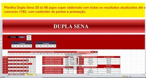 Dupla Sena Jogue Fácil 20 Dz 66 Jogos Super Elaborada..