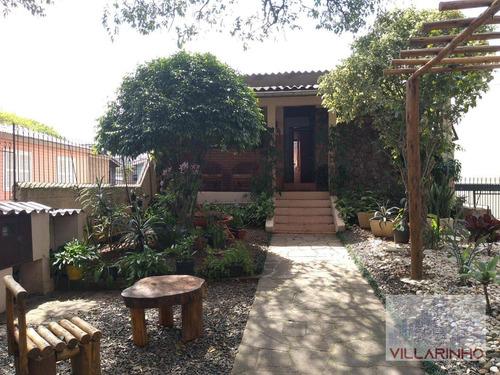 Villarinho Imóveis Vende Diferenciada Casa Com 2 Dormitórios, Terreno Arborizado, 5vg De Garagem - 124 M² Por R$ 450.000 - Vila Nova - Porto Alegre/rs - Ca0634