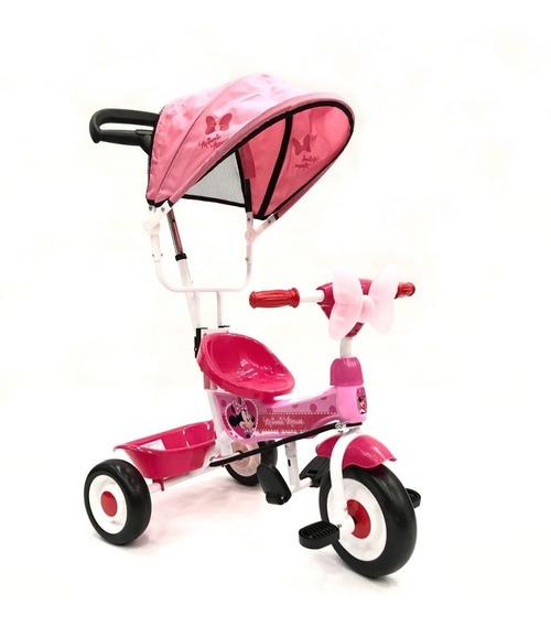 Triciclo Manija Direccional Capota Minnie Babymovil 7089