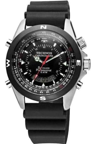 Relógio Technos Masculino Skydiver Pilot T20561/8p Borracha