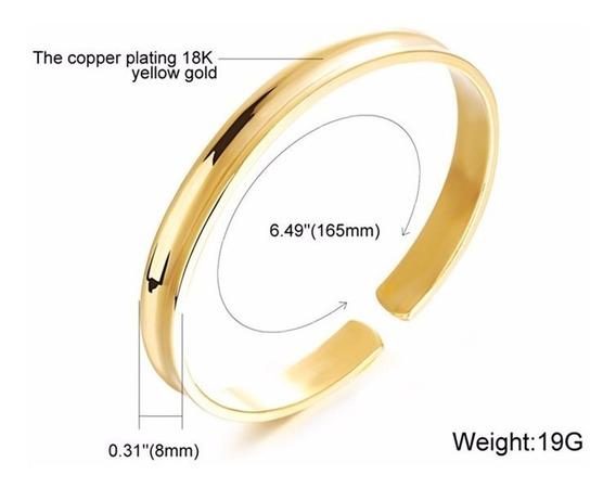 Presente Bracelete Homem Mulher Banhado Ouro 18k Ajustavel