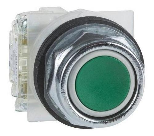 Pulsador Ras N/lum 30mm Verd 1no+1nc Schneider Xb2ma31