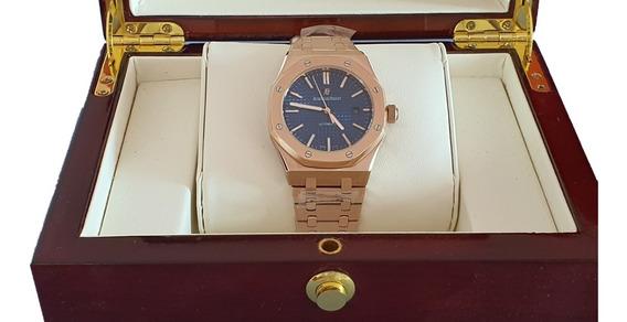 Reloj Tipo Audemars Piguet Royal Oak Oro Rosa Azul 583150grb