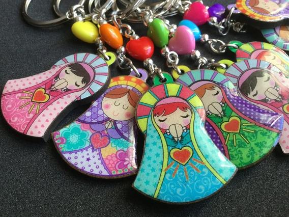 10 Llaveros Virgencitas - Souvenir Comunion Bautismo Confirm
