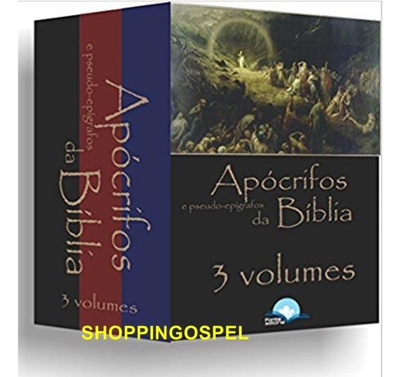 Kit 3 Volumes Livro Apócrifos E Pseudo-epígrafos Da Bíblia
