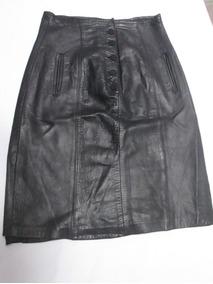 Falda Negra En Cuero