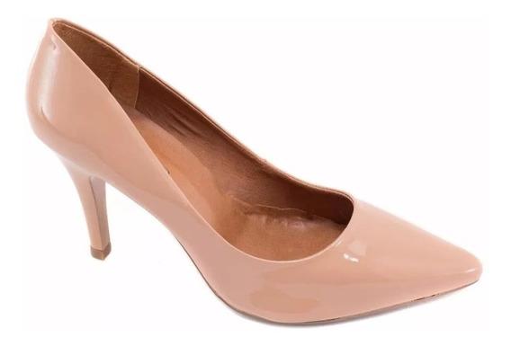 Sapato Scarpin Torricella Nude Salto Fino Secretária Luxo