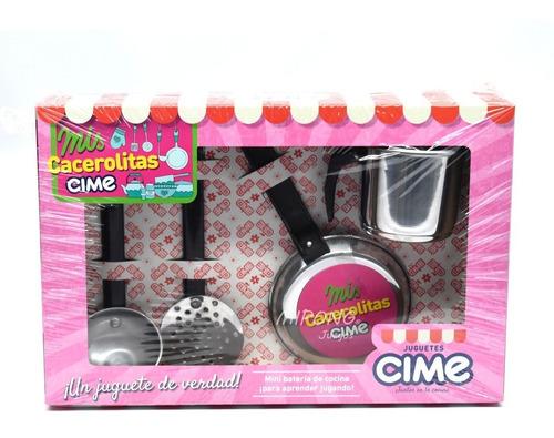 Mini Bateria De Cocina Mis Cacerolas Cime 4 Piezas - Mipong