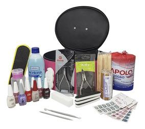 Kit Manicure Profissional C/ Maleta Esmaltes E Acessórios