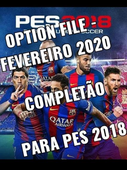 Option File - Fevereiro 2020 Para Pes 2018 Ps3