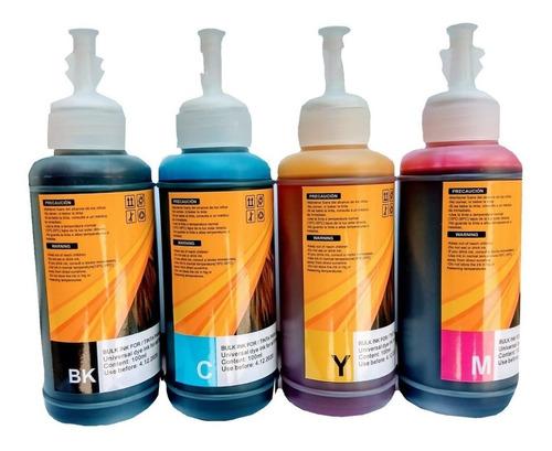 Imagen 1 de 10 de Pack 4 Pzs Tinta Universal Para Todas Las Impresoras