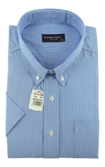 Camisa Hombre * John Poul* Semi-entallada O Clasica M/ Corta