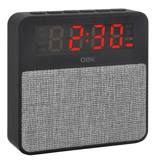 Som Clock Speaker Wake Cs100 Preto Com Cinza