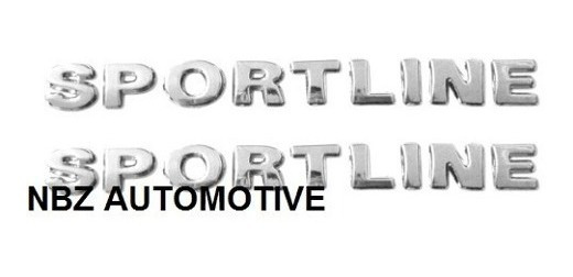 2 Emblemas Sportline Gol/ Voy/ Parati/ Polo/golf + Brinde
