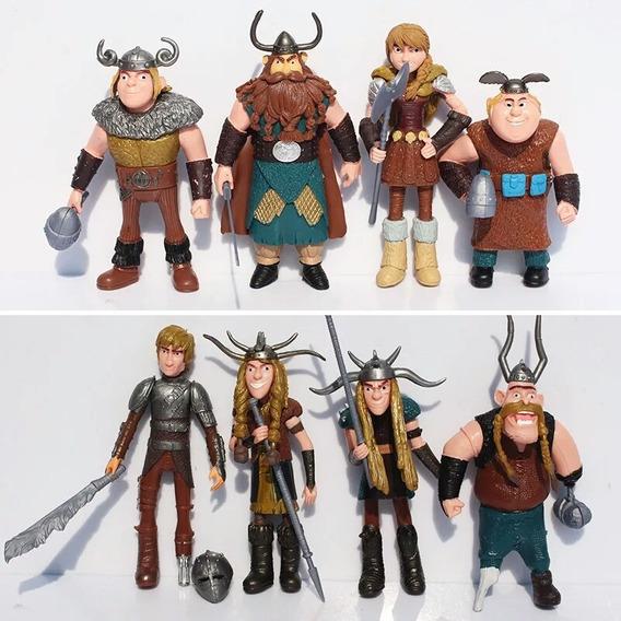 Como Treinar O Seu Dragão Vikings 8 Bonecos Figura Em Ação