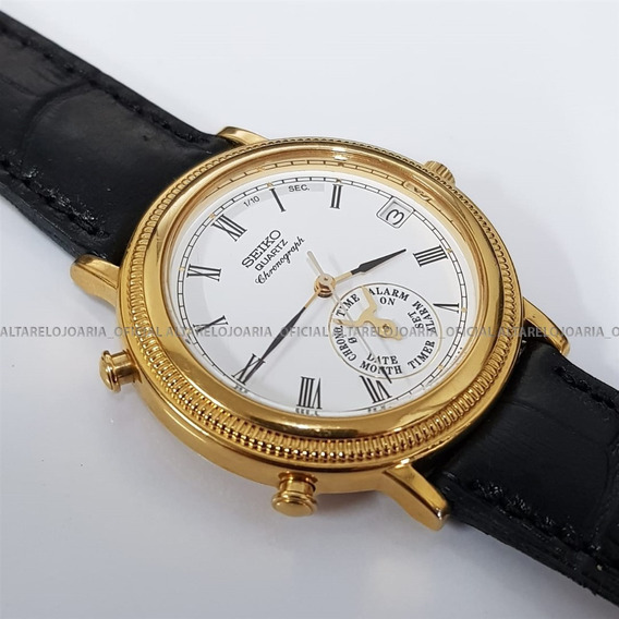 Relógio Seiko Vintage Chronograph Raro Item De Coleção