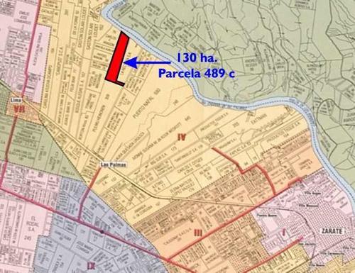 Fraccion 130 Has En Zarate Zona Las Palmas Sobre Rio Parana