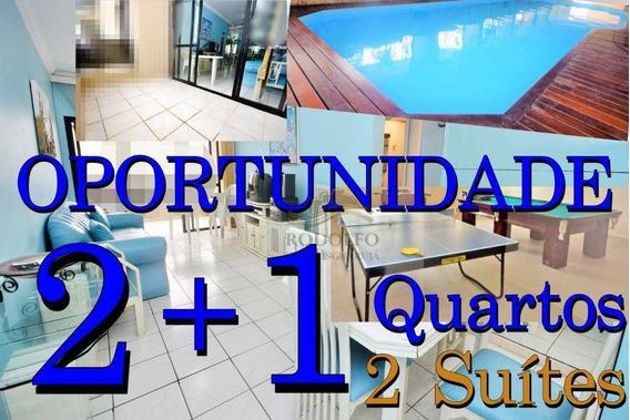Guarujá Pitangueiras 2 Dts ( 1 Suíte) + Suíte De Empregada, Elevador, Sacada, Andar Alto, Lazer, 2 Vagas - Ap0939
