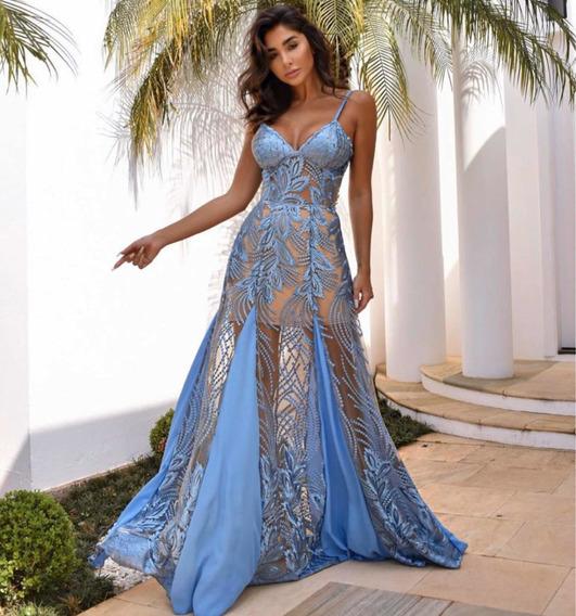 Vestido Azul Serenity. Tamanho P . Usado Uma Única Vez.