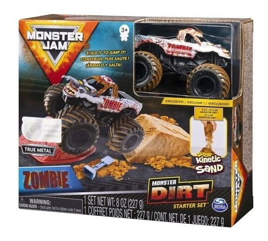 Carro Monster Jam - Zombie Dirt Starter Escala 1:64 - Sunny