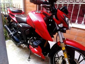 Moto Deportiva Apache Tvs Rtr 200 22 Kilometros