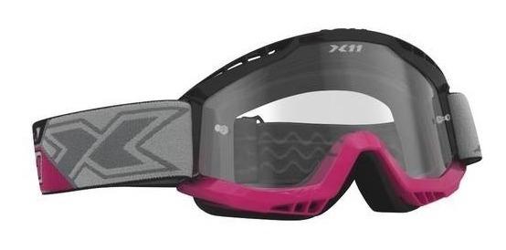 Óculos X11 Mx Cinza Lente Cristal X11 Trilha Enduro Cross Nf
