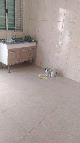 Imagem 1 de 6 de Casa Com 1 Dormitório Para Alugar, 24 M² Por R$ 750,00/mês - Jardim Ocara - Santo André/sp - Ca0833