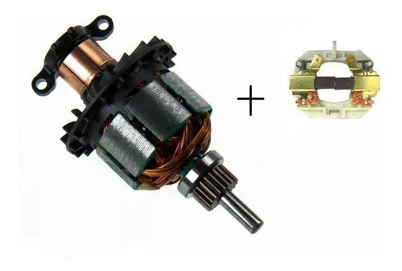 Rotor Induzido + Porta Escova Carvão Dewalt Dcd780 785 (original)