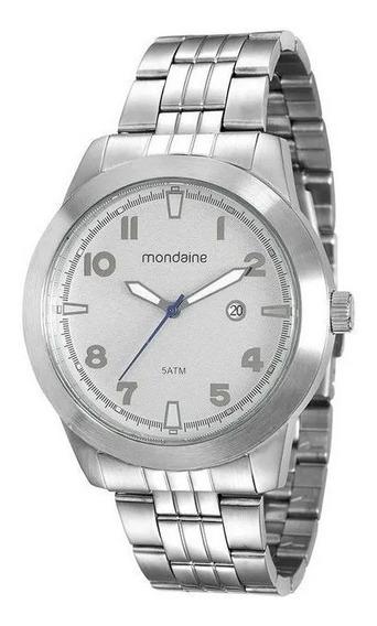 Relógio Masculino Mondaine Prata Analógico 94965g0mvna2 Foto