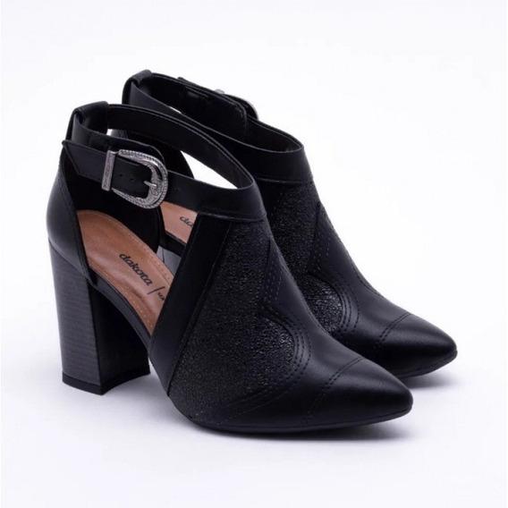 Sapato Dakota Salto Bloco Bico Fino G1093 - Preto