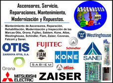 Ascensores, Reparaciones, Servicio, Repuestos, Mantenimiento