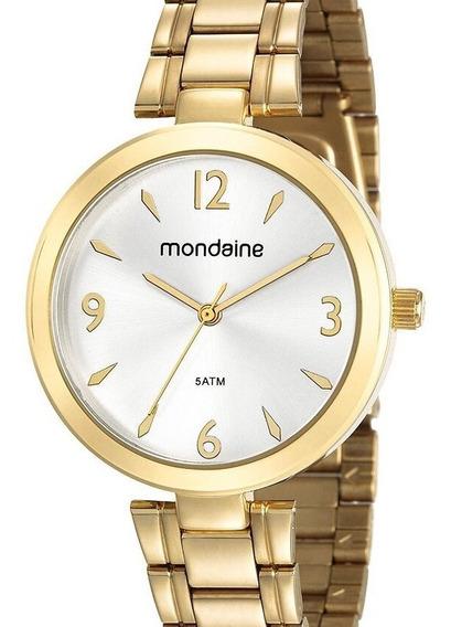 Relógio Mondaine Feminino Dourado Original Barato